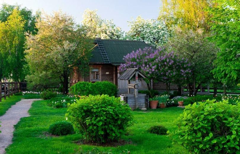 Ландшафт деревенского дома