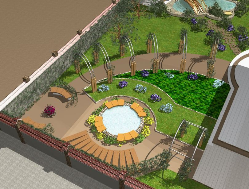 Как создать озеленительный проект двора картинки