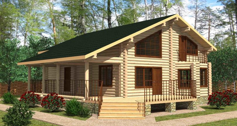 Красивые дома из оцилиндрованного бревна