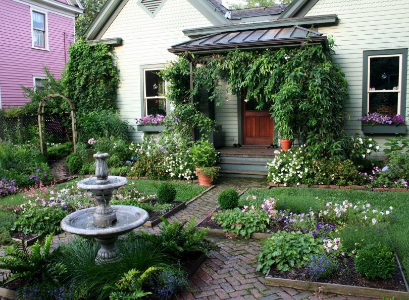 Ландшафтный дизайн маленького сада (36 фото): оформление небольшого участка своими руками