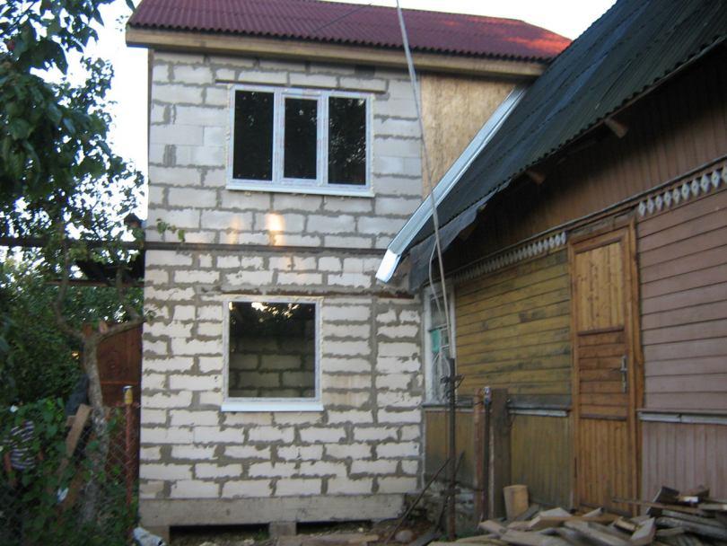 пристрой к дому варианты фото из блоков