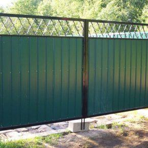Сделать ворота из профнастила своими руками: 130 фото, проекты, обзор конструкций и видео советы по монтажу