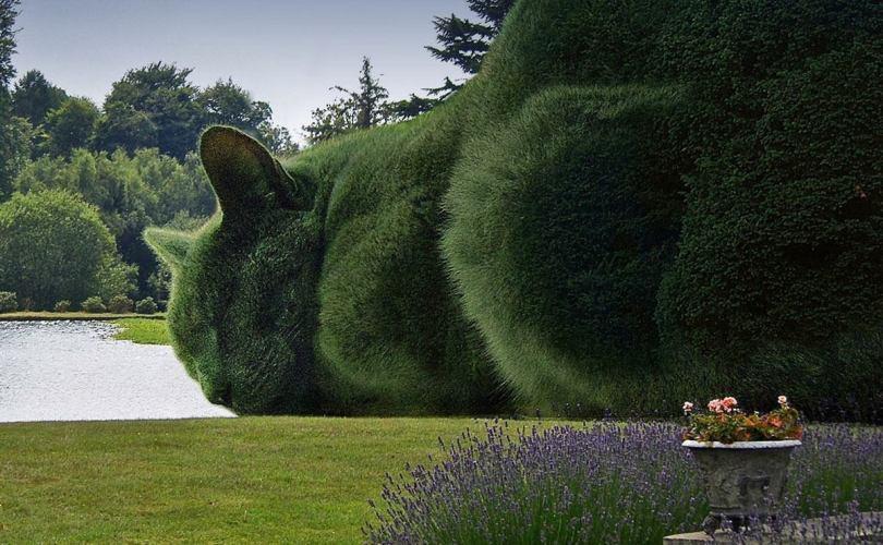 Топиар фигуры из искусственной травы для благоустройства города