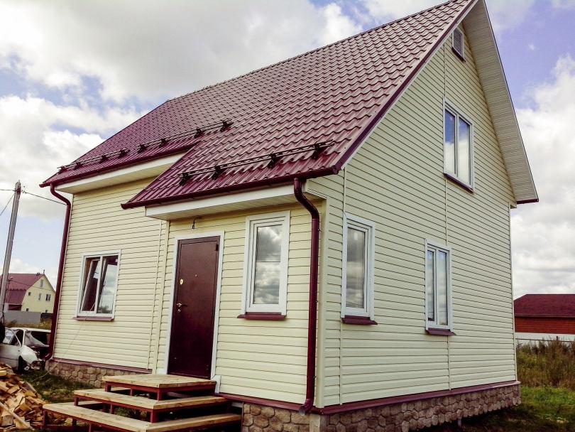 фотографии домов с сайдингом это маленькая