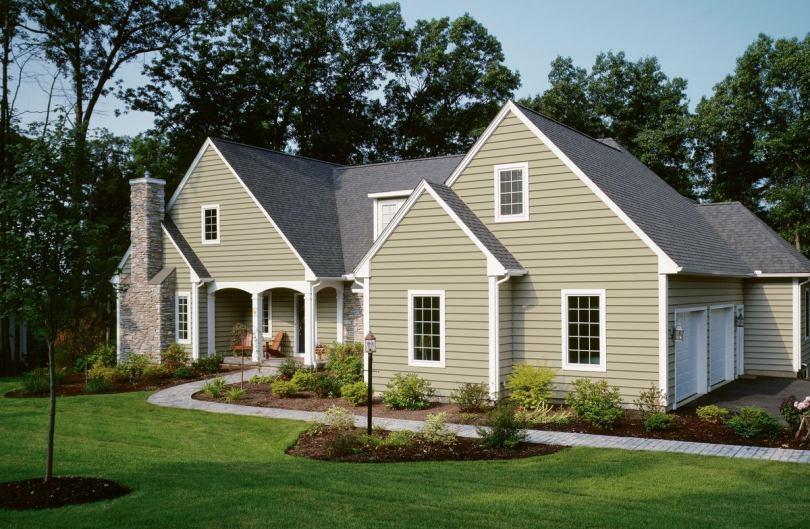 Дома обшитые сайдингом фото красивых частных домов отделанных сайдингом разных цветов и расцветок